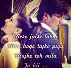 Jab we met. Romantic Song Lyrics, Best Song Lyrics, Song Lyric Quotes, Cool Lyrics, Romantic Love Quotes, Music Quotes, Music Lyrics, Hindi Quotes, Wisdom Quotes