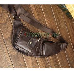 Men's Vintage Genuine Leather Travel Hiking Cycling Riding Motorcycle Bike Shoulder Messenger Sling Chest Bag   http://www.dealofthedaytips.com/products/mens-vintage-genuine-leather-travel-hiking-cycling-riding-motorcycle-bike-shoulder-messenger-sling-chest-bag/