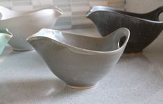 NEW!  Batter Bowl! Pottery Bowl with Spout and Handle