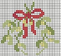 Mistletoe cross stitch...