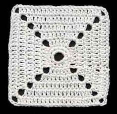 Modèles de carrés au crochet