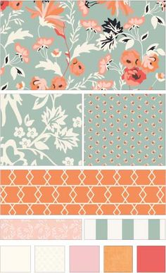 3d5773fd61 Apricot  amp  Persimmon fabric line by Carina Gardner for Riley Blake  Designs—Subscribe to