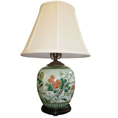 different shade on all of the lamps Ive pinned 1stdibs | Antique Chinese Ginger Jar, Mounted as Lamp