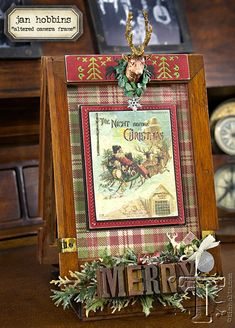 looking for a seasonal repurposing idea?  today jan hobbins takes the ordinary and turns it into holiday extraordinary by altering a vintage find.  i love how she incorporates festive papers, die-c...