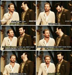 Dean O'Gorman and Aidan Turner. I like how Dean is the one who actually knows what he's talking about.