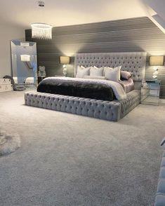 Dream House Interior, Dream Home Design, Room Ideas Bedroom, Home Decor Bedroom, Girls Bedroom, Dream Rooms, Dream Bedroom, Master Bedroom, Stylish Bedroom