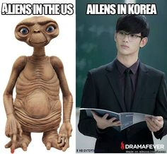 I'd like to be taken by an alien in Korea any day!