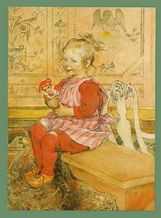Large poster print by Carl Larsson