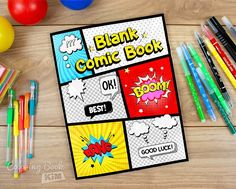 Blank comic to create great stories for children and adults. 120 pages of great and unique templates designed to meet the highest requirements of both small and large artists. The panels are arranged so that it is easy to draw both short and long stories. The size of the panels allows you to draw both larger and smaller scenes. 70% of panels contain drawing bubbles and graphic inserts that can be colored and entered with words.