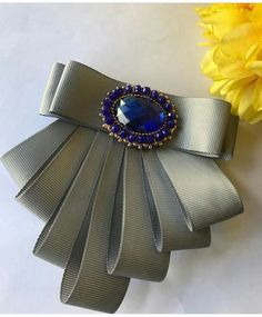 Ribbon Jewelry, Ribbon Art, Diy Ribbon, Fabric Jewelry, Ribbon Crafts, Ribbon Bows, Diy Hair Bows, Making Hair Bows, Diy Bow