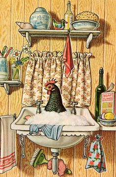 my vintage book collection (in blog form).: The Tidy Hen - illustrated by Antony Groves-Raines (1961)**