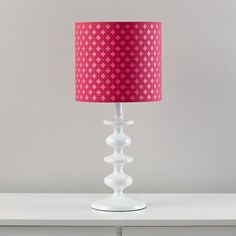 The Land of Nod | Kids' Floor Lamps: Pink Clover Table Lamp Shade in All Lighting