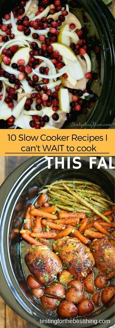 10 Slow Cooker Recipes I Can't Wait to Make this Fall - Delicious and comforting slow cooker recipes that you will be excited to come to. #easy #quick #slowcooker www.testingforthebestthing.com/10-slow-cooker-recipes-i-cant-wait-to-make-this-fall/