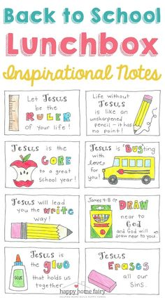 Inspirational Back to School Lunch Box Notes – FREE Printable! – Happy Home Fairy Inspirational Back to School Lunch Box Notes – FREE Printable! – Happy Home Fairy Lunch Box Notes, School Lunch Box, School Notes, School Lunches, Box Lunches, School Treats, First Day Of School, School Days, Back To School