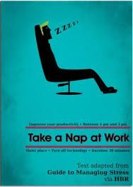 The correlation between the title and image is to prevent people to work while they are working. In this case, the image of a man sleeping on the seat has been shown above.