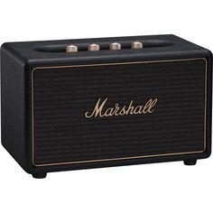 Marshall Acton Multi-Room Bluetooth Speaker w/ Airplay & Chromecast Black Marshall Stockwell, Marshall Acton, Multi Room Speakers, Home Speakers, Wireless Speaker System, Bluetooth, Shops, Marshall Speaker, Wi Fi