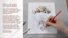 How to Use Colored Pencil by Jody Bergsma This was amazing. This coloring went from dull to a popping 3D art piece with only colored pencils.