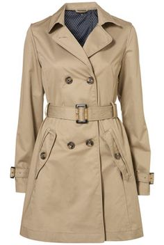 Trench coats are a must have and never go out of fashion! Fashion bargain $105 @ Topshop.com
