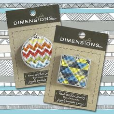 #blitsy! Dimensions Hand Stitched Jewelry #blitsy buy -cross stitch or needlepoint mounted on wood