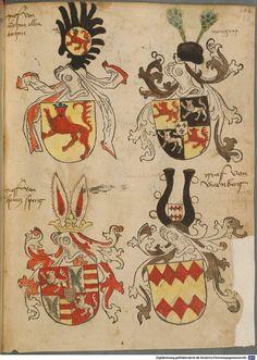 Tirol, Anton: Wappenbuch Süddeutschland, Ende 15. Jh. - 1540 Cod.icon. 310  Folio 88r