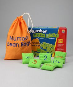 This would also be really easy to make! Take a look at this Number Beanbag Set by Educational Insights on #zulily today!