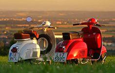 Romantic Sunset Vespa GTR '70 vs. Vespa TS '78