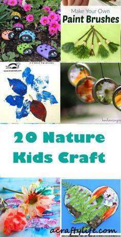 nature kids craft - kid crafts - acraftylife.com #preschool #craftsforkids #crafts #kidscraft