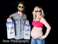 Ice Ice Baby! Maternity portrait or pregnancy announcement