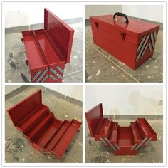 wholesale js05 cheap steel push lock tool box
