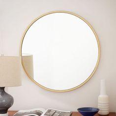 249 x Metal Framed Round Wall Mirror - Antique Brass Wall Mirrors Metal, Mirror Wall Art, Mirror Tiles, Round Wall Mirror, Floor Mirror, Round Mirrors, Mirror Bathroom, Mirror Stairs, Bathroom Ideas