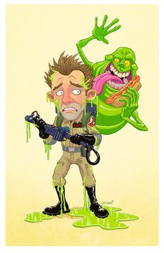Peter Venkman & Slimer - Ghostbusters - Tim A. Odland