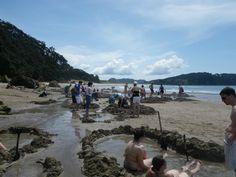 Dig my own hot tub... Hot Water Beach, New Zealand (my own photo) New Zealand, Tub, Bath Tub, Soaking Tubs, Bathtubs, Bath