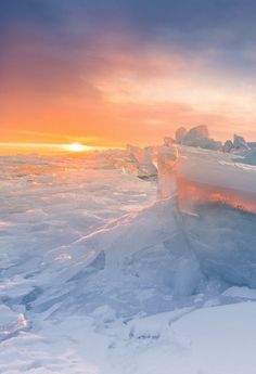 """Kingdom of the Snow Queen"" — Lake Baikal, Siberia"