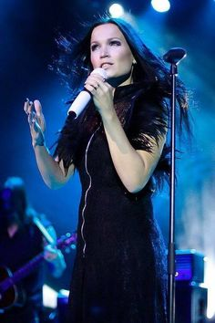 "Tarja ex lead singer with a beautiful angelic but powerful voice from the band ""nightwish"""
