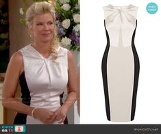 Brooke's twist front dress on The Bold and the Beautiful.  Outfit Details: http://wornontv.net/51192/ #TheBoldandtheBeautiful