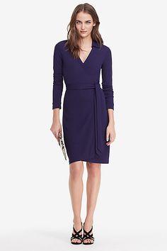 New Jeanne Two Matte Jersey Wrap Dress in in Midnight