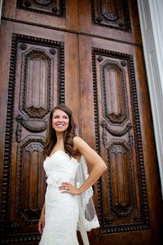 Beautiful dress! Charleston, South Carolina wedding portraits via Carmen Ash Photography
