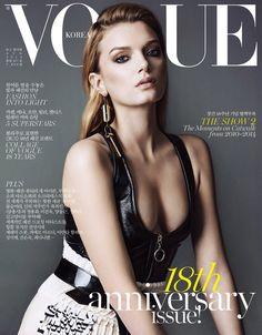 Lily Donaldson for Vogue Korea August 2014 Cover.