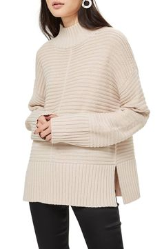5a14e851db Mock Neck Sweater, Main, color, OATMEAL Cable Knit Sweater Dress, Mock Neck