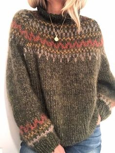 Diy Crafts - Knitting Patterns Lace Stitches Charts Ideas For 2019 Lace Knitting Patterns, Knitting Stitches, Knitting Designs, Nordic Sweater, Mohair Sweater, Diy Crafts Knitting, Icelandic Sweaters, Knit Dishcloth, Fair Isle Knitting