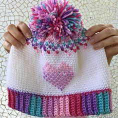 Ravelry: Heart Showers Beanie pattern by Esther Thompson