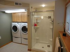 Image Gallery Website contemporary half bath laundry room layout