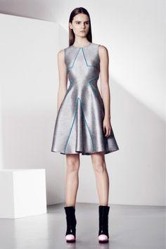 #futuristic #fashion #metallic #dress #piping
