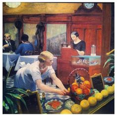 Edward Hopper - Tables for Ladies - 1930