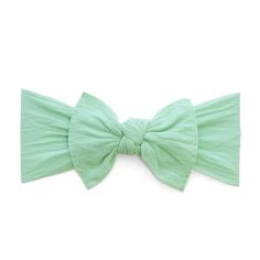 Baby Bling Bow Knot Headband in Mint | Shop Soft & Stretchy Baby Headbands at SugarBabies