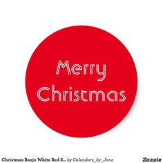 Christmas Banjo White Red Sticker by Janz Christmas Stickers, Banjo, Red S, Sticker Design, Create Your Own, Merry Christmas, Graphic Design, Photography, Merry Little Christmas