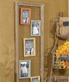 Loving this Chicken Wire Five-Picture Frame on #zulily! #zulilyfinds