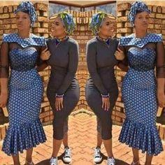 South African Traditional Dresses, Shweshwe Dresses, Africa Fashion, Editorial Fashion, Designer Dresses, Peplum Dress, Fashion Dresses, Style Inspiration, Womens Fashion