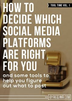 If you want to determine which social media platforms are best for your brand and what you should post on each, then the social media clarity exercises and downloads in this post are for you.