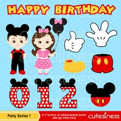 Mickey Mouse Digital Clipart DIY Mickey Party by Cutesiness